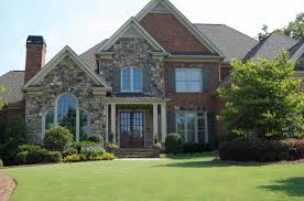 Home Design Exterior Front Yard Landscaping For Alluring Yard In Huge Home Amaza Design