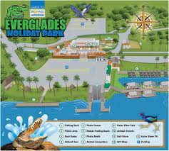 Weather Map Of Florida by Everglades Holiday Park Map Of Park
