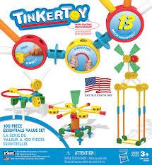 amazon com tinkertoy u2012 100 piece essentials value set u2012 ages 3