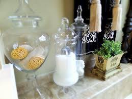 Bathroom Apothecary Jar Ideas Master Bathroom Tuscan Inspired Be My Guest With Denise