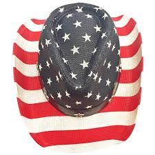 Country American Flag American Flag Country Straw Star Cowboy Hat Red White Blue Usa