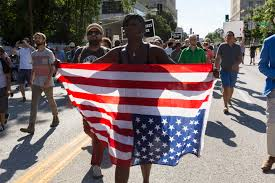 American Flag Upside Down Black Lives Matter Protest In Downtown St Louis Mo Daniel Shular