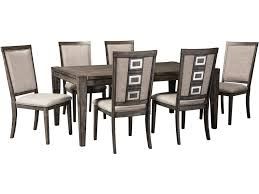 chadoni 7 piece rectangular extension dining room set 6 chairs