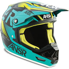 motocross bike helmets answer mx gear evolve 2 ar15 black teal motocross dirt bike