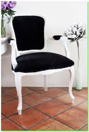 French Style Black And White Accent Chair U2014 Home Decor Chairs