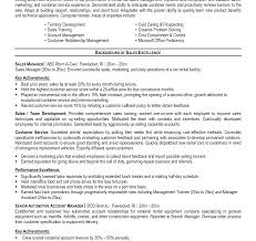sle resume for key accounts manager roles in organization car sales representative job description for resume fresh template
