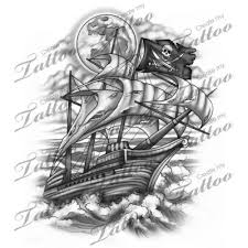 collection of 25 the pirate tatto design