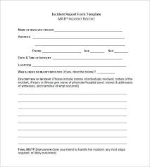 incident report form template word best template examples