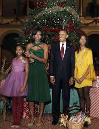 Obama First Family by Michelle Obama Gets Her Christmas On Tom Lorenzo The Obamas
