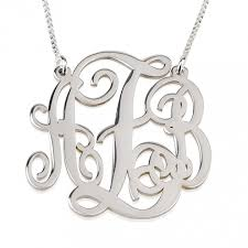 monogram sterling silver necklace make day with this beautiful sterling silver split chain
