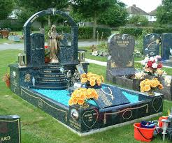 headstones and memorials bespoke memorial large kerbed memorial with arched headstone