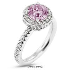 purple diamond engagement rings 14k white gold accents engagement ring with 3 50 total carat