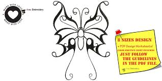 butterfly machine embroidery design tribal butterfly embroidery
