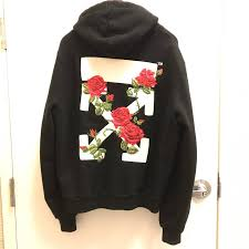 black roses for sale white white black roses embroidered hoodie size small size