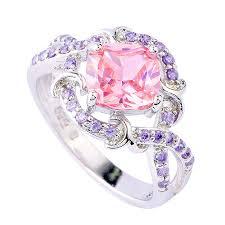gemstone rings images Belle rose pink topaz amethyst silver ring nadine jardin jpg