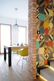 decorating with cement tiles on walls and floors leads to