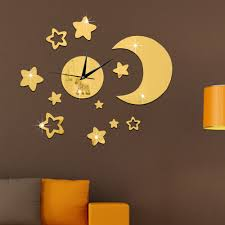 Decoration Star Wall Decals Home by Home Decor Star Clock Promotion Shop For Promotional Home Decor