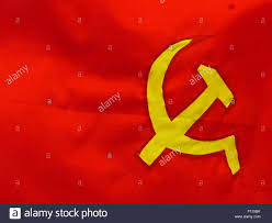 Soviet Russian Flag Sickle And Hammer Soviet Flag In Ho Chi Minh City Stock Photo