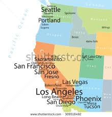 map of usa west coast vector map usa west coast largest stock vector 309518492