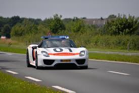 old porsche 918 dutch police porsche 918 spyder with painting in