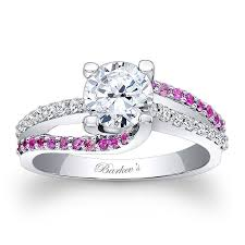 love rings pink images Barkev 39 s engagement ring with pink sapphires 7677lps barkev 39 s jpg