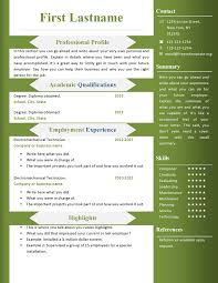 A Resume Template On Word Free Cv Resume Templates 360 To 366 Free Cv Template Dot Org
