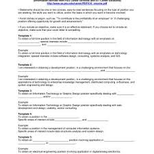 Resume Objective Statement - sle resume objectives for all jobs copy cover letter exle of