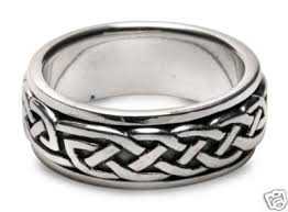 celtic knot ring celtic eternity knot unisex spin spinner ring handcrafted