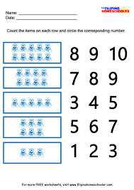 number recognition worksheets 1 10 the filipino homeschooler