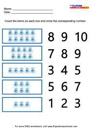Number Worksheets Number Recognition Worksheets 1 10 The Filipino Homeschooler