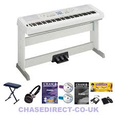 Yamaha Piano Bench Adjustable Yamaha Dgx 660 Digital Portable Grand Piano In White Pedal Board