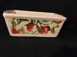 ceramic mini loaf pan w summer apple design nantucket ebay