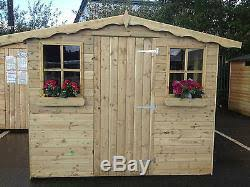 Garden Shed Summer House - shed fully t u0026g tanalised timber cladding wooden hut sheds summerhouse
