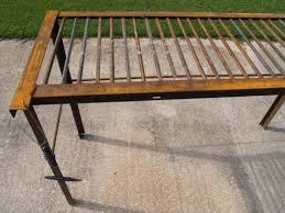 Bed Frame Metal How To Build A Man Size Welding Table From Rebar And Used Bed