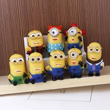 8pcs lot 4 6cm toys despicable me minions ornament