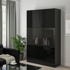 ikea high gloss black kitchen doors bestå storage combination w glass doors black brown selsviken high gloss black smoked glass 47 1 4x16 1 2x76