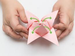 How To Make Easy Paper Flowers For Cards - origami how to fold paper flowers steps with pictures wikihow
