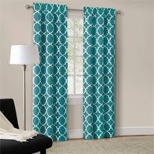 Modern Pattern Curtains Best 25 Teal Curtains Ideas On Pinterest Window Curtains