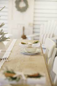 Christmas Table Decoration Ideas On A Budget by Simple Holiday Table Dressing With Cinnamon Greenery And Coastal