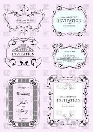 collection of wedding frames and ornaments with sle text vector