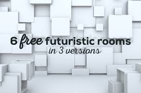3d room 6 futuristic 3d rooms deeezy freebies with extended license