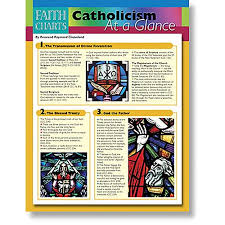 catholic gifts and more faith charts catholicism at a glance catholic gifts more w2286