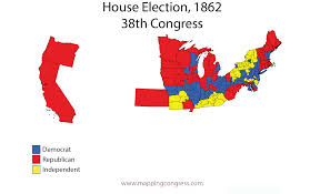 Midterm Election Map by Mapping Congress Teaching Resources