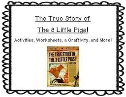 true story 3 pigs activity pack u0026 craftivity