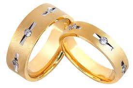 couple rings gold images Designer gold couple rings with 3 diamonds in grooves jl au 1025 jpg