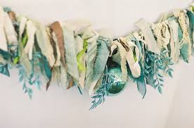 wedding garland lace and turquoise sparkle