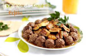 recette de cuisine viande tajine de courgettes aux boulettes de viande hachée