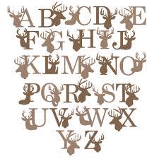 monogrammed scrapbook deer alphabet svg scrapbook title winter svg cut file snowflake