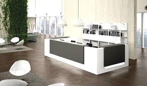 Modern White Reception Desk Office Table Modern White Reception Desk With Marble Floor For