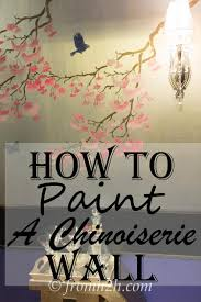 How To Paint And Stencil by How To Recreate Diy Chinoiserie Wallpaper On A Budget
